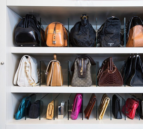 Идеи для хранения сумок в шкафу фото