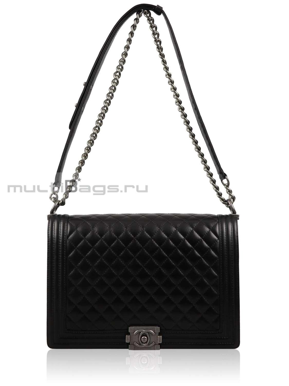 Купить женскую сумку CHANEL Large Boy Flap Bag, цвет черный в ... fcf6ce5aaae
