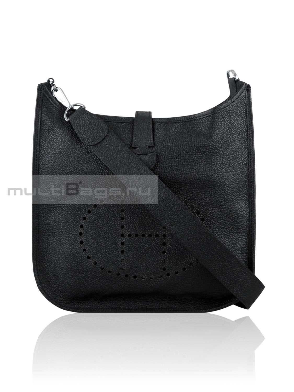 0f221617c22e Купить женскую сумку HERMES Evelyne, цвет черный в интернет-магазине ...