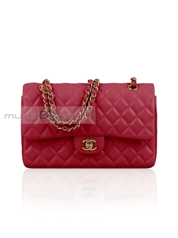 dce59530 Купить женскую сумку CHANEL 2.55 Classic Flap Bag, цвет красный в ...