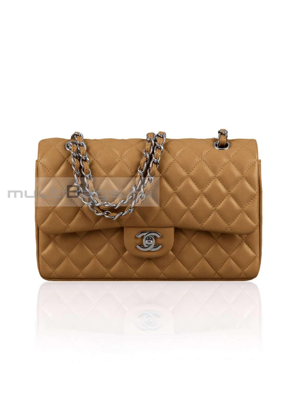 4bd447c5dd6f Купить женскую сумку CHANEL 2.55 Classic Flap Bag, цвет бежевый в ...