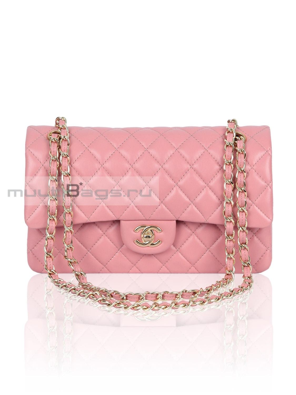 e243b460 Купить женскую сумку CHANEL 2.55 Classic Flap Bag, цвет розовый в ...