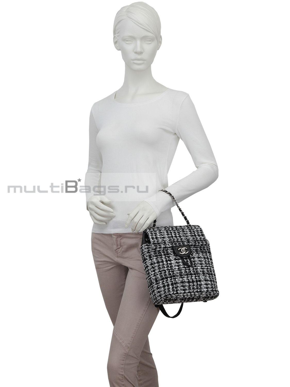 78b257716305 Купить CHANEL Рюкзак из твида, цвет серый в интернет-магазине — Сумки