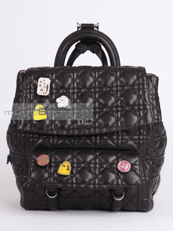 Купить DIOR Рюкзак Dior со значками, цвет черный в интернет-магазине ... c81b0c7653f