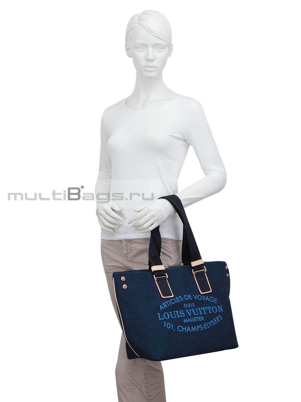 22105bb75b23 Купить женскую сумку LOUIS VUITTON Пляжная сумка из ткани, цвет ...